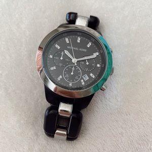 Michael Kors Black & Silver Watch